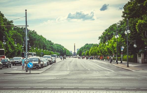 Картинка дорога, лето, город, путешествие, туризм, германия, берлин