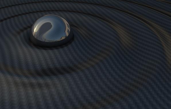 Картинка волны, темно, шар, сфера