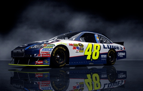 Картинка фон, фары, Chevrolet, тачка, NASCAR, наскар