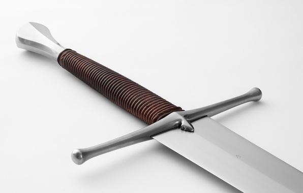 Картинка оружие, фон, сталь, меч, рукоятка