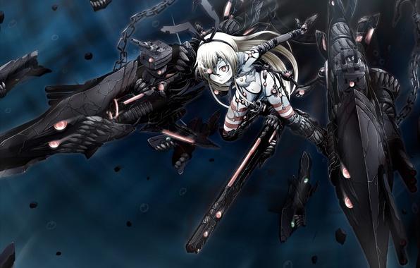Картинка девушка, оружие, аниме, арт, монстры, kantai collection, ogawa-syou, ha-class