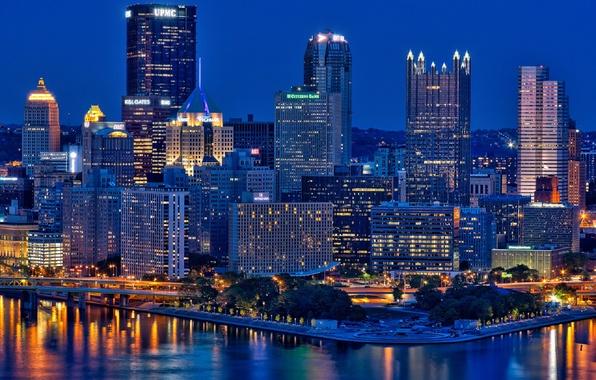 Картинка city, город, USA, Pennsylvania, Pittsburgh