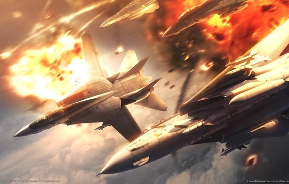 Картинка самолеты, ace combat 5, games