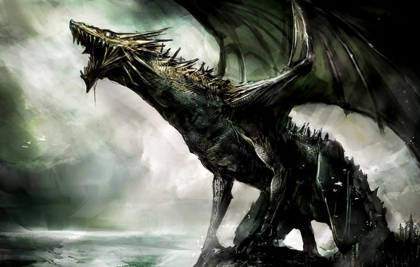 Картинка dragon, creature, jaws
