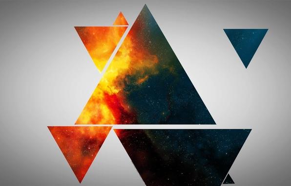 Картинка фон, абстракции, треугольники