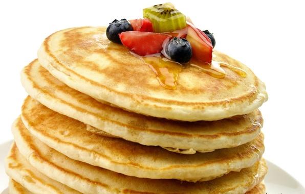 Картинка ягоды, еда, киви, клубника, фрукты, honey, мёд, десерт, food, сладкое, sweet, 1920x1080, strawberry, fruits, dessert, …