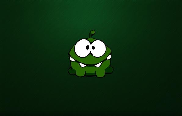 Картинка зеленый, green, монстр, монстрик, monster, глазастый, чудик, зубастый, Cut the Rope