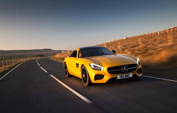 Картинка Mercedes, мерседес, AMG, амг, UK-spec, 2015, GT S, C190