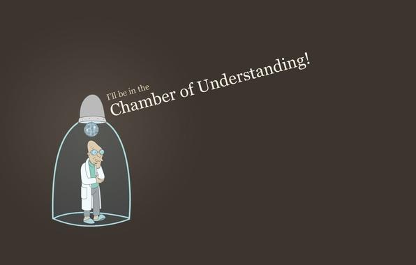 Картинка Футурама, Futurama, Хью́берт Фа́рнсворт, i will be in the chamber of understanding