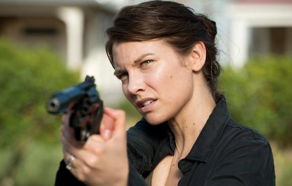 Картинка Maggie, The Walking Dead, Lauren Cohan, Ходячие, шестой сезон