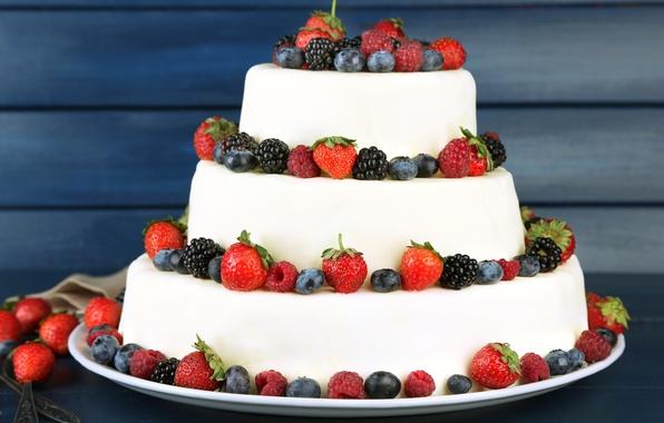 Картинка ягоды, малина, черника, клубника, торт, cake, крем, десерт, выпечка, ежевика, сладкое, sweet, dessert, berries