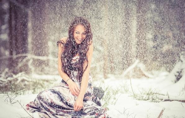 Картинки девушки в зиму