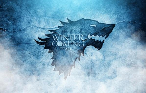 Картинка волк, сериал, герб, A Song of Ice and Fire, Winter is coming, Игра престолов, Старк, …