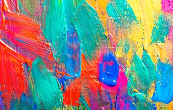 Картинка краска, colors, текстура, texture, мазки, paint, acrylic