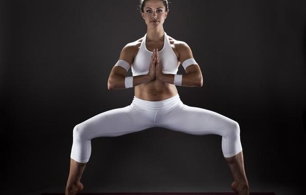 Картинка девушка, поза, спорт, yoga