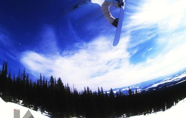 Картинка зима, энергия, снег, горы, сноуборд, сноубординг, спуск, спорт, развлечения