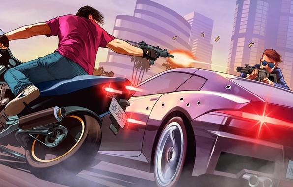 Картинка Grand Theft Auto V, Rockstar Games, GTA Online, Los Santos, gat5