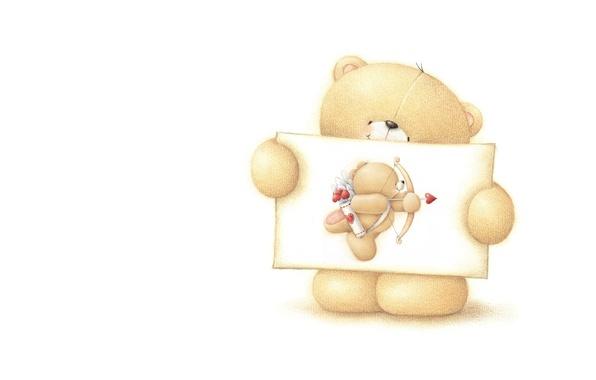 Картинка настроение, праздник, минимализм, арт, мишка, валентинка, признание, День Святого Валентина, детская, Forever Friends Deckchair bear, …