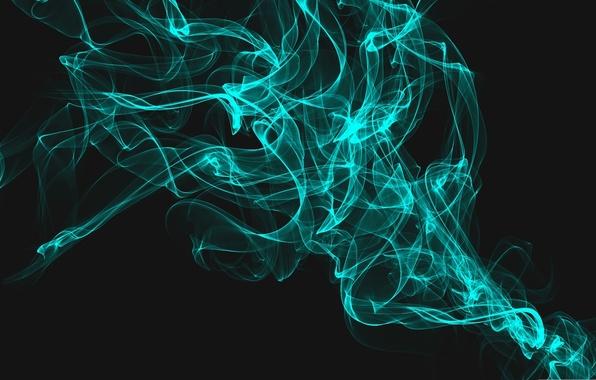 Картинка Дым, Голубой, Абстракция