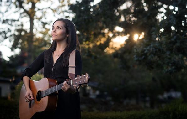 Фото обои музыка, Tricia Anne, гитара