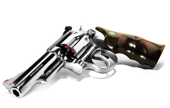 Картинка оружие, фон, револвер, S&W