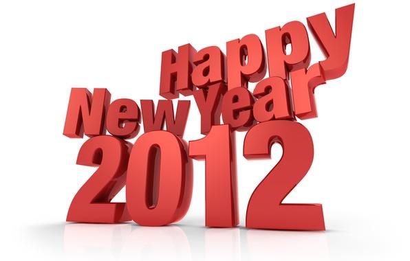 Картинка фон, 2012, Happy New Year