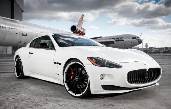 Картинка Maserati, white, Granturismo, Vossen