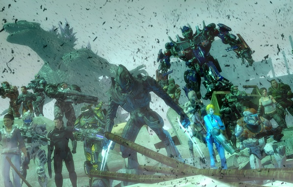 Картинка starcraft, Halo, dead space, mass effect, Mass Effect, art, crysis, Alyx Vance, bulletstorm, transformers, optimus …