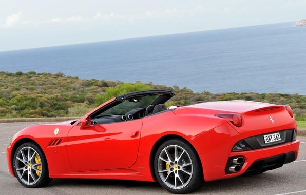 Картинка красный, Ferrari, red, автомобиль, California