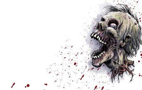 Картинка zombie, blood, head, decapitated