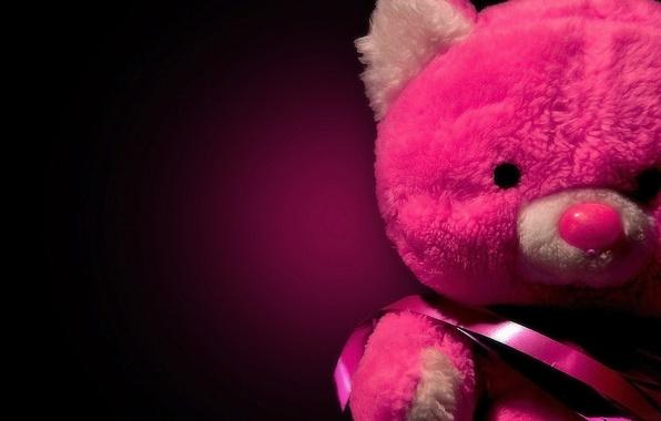 Картинка красный, блеск, red, sad, teddy bear, грустно, плюшевый мишка, shine