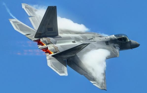 Картинка небо, оружие, самолёт, F-22 Raptor