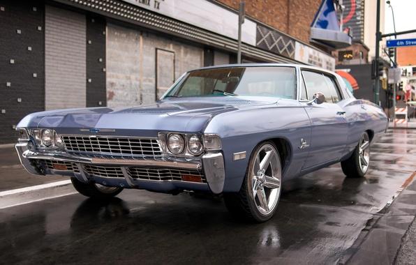 Картинка ретро, Chevrolet, классика, Chevy, передок, Impala