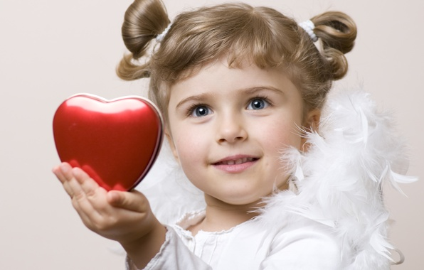 Картинка любовь, дети, детство, сердце, ребенок, ангел, перья, love, heart, feathers, angel, child, childhood, children, cute …