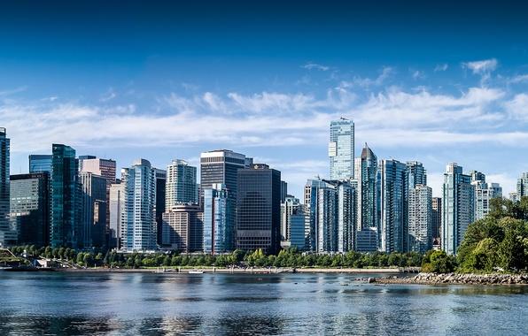 Картинка здания, Канада, панорама, Ванкувер, Canada, British Columbia, Vancouver, Британская Колумбия