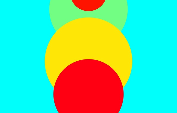 Картинка Android, Red, Circles, Blue, Green, Design, 5.0, Line, Yellow, Lollipop, Abstraction, Material