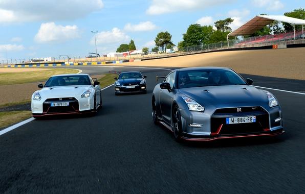 Картинка фото, Nissan, автомобили, трое, 2014, GT-R Nismo