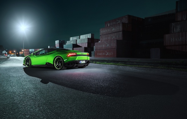 Картинка car, свет, Lamborghini, фонарь, light, автомобиль, Spyder, wallpapers, ламборгини, стоп-огни, Novitec, Torado, Huracan
