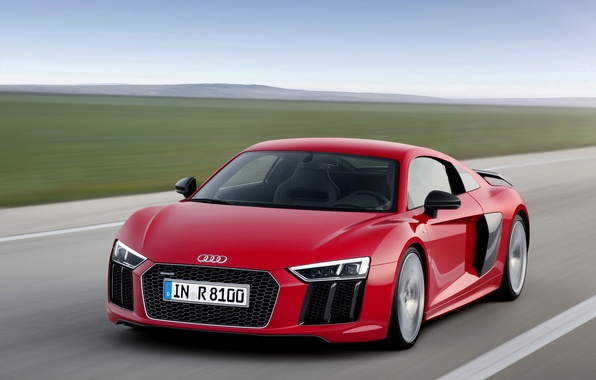 Картинка фото, Audi, Тюнинг, Автомобиль, Бордовый, Спереди, 2015, V10 plus