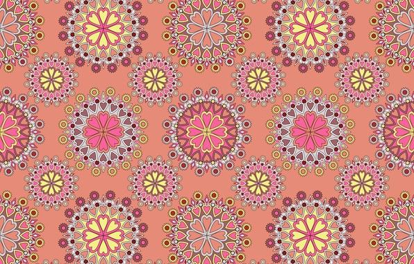 Картинка узор, текстура, орнамент, розовый фон