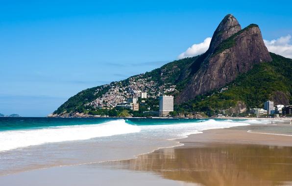 Картинка фото, Природа, Горы, Побережье, Бразилия, Rio de Janeiro
