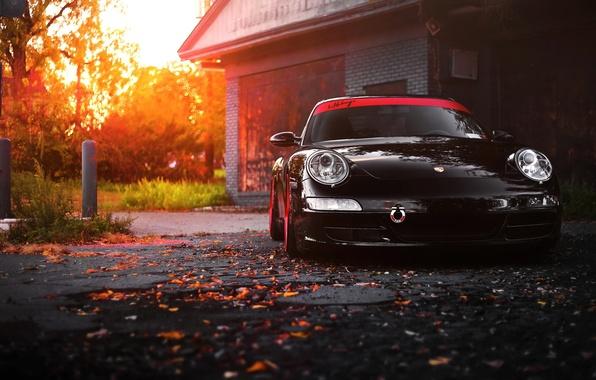 Картинка car, 911, porsche, black, carrera