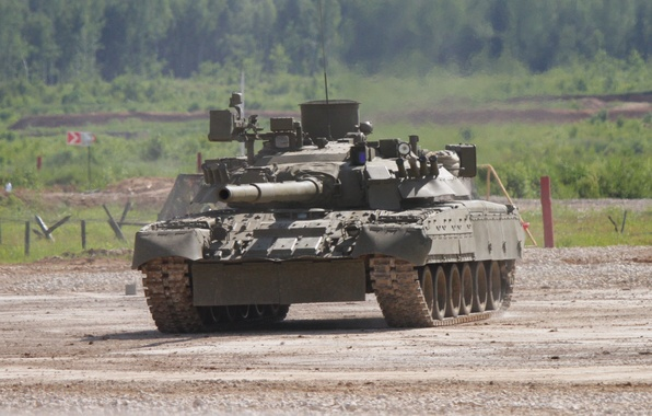Картинка танк, полигон, боевой, Т-80