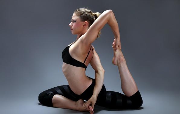 Обои картинки фото девушка, гимнастика, спорт