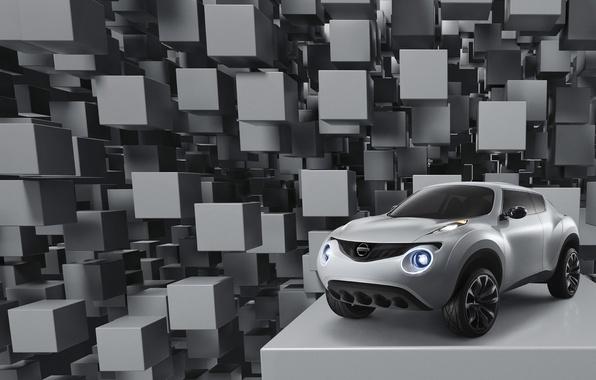 Картинка кубики, Nissan, Qazana, концепт-кар