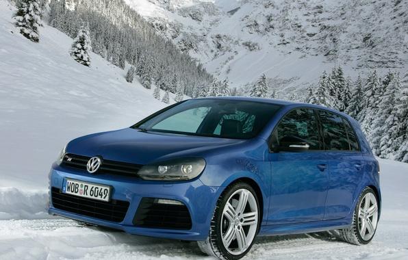 Картинка машины, синий, golf