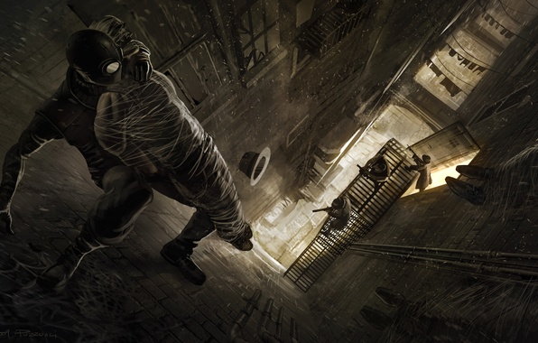 Картинка стены, паутина, шляпа, мафия, человек паук