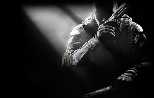 Картинка пистолет, нож, Call of Duty, CoD, Activision, Treyarch, Black Ops 2