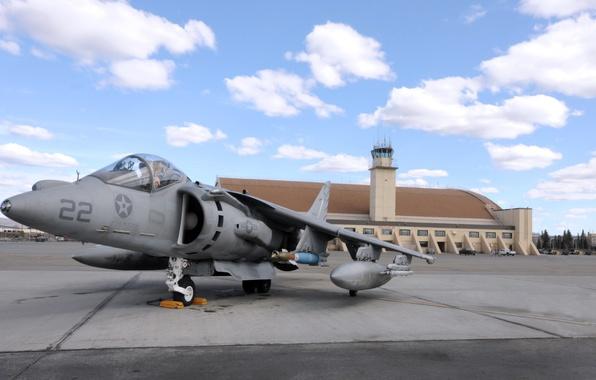 Картинка Самолет, Истребитель, День, Крылья, Авиация, ВВС, Harrier, Бомбардировщик, Харриер, GR Mk-7