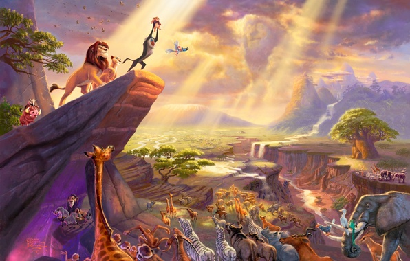 Картинка свет, горы, тучи, скала, фильм, рисунок, мультфильм, картина, арт, каньон, рисунки, картины, ущелье, красивая, живопись, …